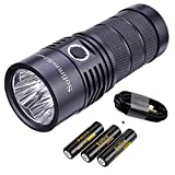 Sofirn BLF SP36 Rechargeable Flashlight, Brightest 4 LH351D LED 90 CRI Outdoor Search Torch, With 18650 Batteries and USB C Cable (BLF Anduril Version)