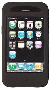 SoftBank iPhone 3G用 なめらかシルクタッチ シリコンケース 液晶保護フィルム付 ブラック RX-IPSPHOBK