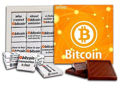 DAチョコレートお土産キャンディー BITCOINチョコレートギフトセットCryptocurrencyデザイン13x13cm 1箱 (オレンジ)