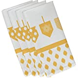 (48cm x 48cm, Yellow) - E by design N4GHN570YE9 Decorative Holiday Napkin, Geometric, (Set of 4), 48cm x 48cm, Yellow