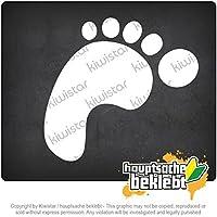 足跡絵文字 Footprint pictogram 13cm x 10cm 15色 - ネオン+クロム! ステッカービニールオートバイ
