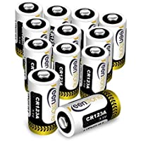 Keenstone CR123A電池 12パック 3V カメラ用リチウム電池 フラッシュライト・おもちゃ電池 [ULとCE認証]