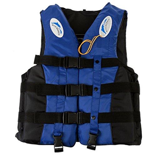 YideaHome救命胴衣 呼び子付け ホイッスル 反射帯付き緊急時に役立つ強い浮力高い負荷力安全安心 釣り 漂流 子供用大人用(XXL,ブルー)