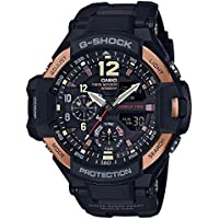 Casio Men's GA1100RG-1A G-Shock Gravitymaster Black and Rose Gold-Tone Watch