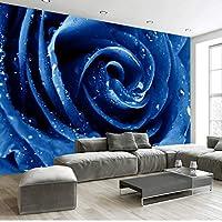 Xueshao 花3D壁紙壁画不織布壁紙赤青バラリビングルーム寝室の壁紙家の装飾現代-120X100Cm
