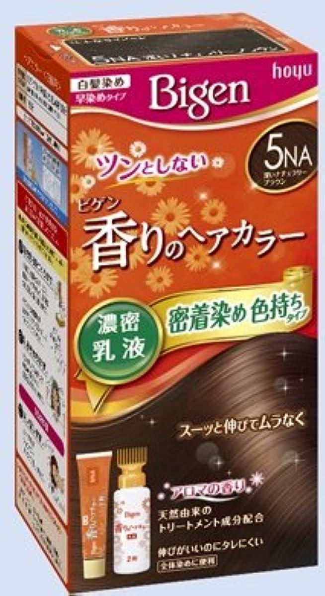 上流のりんごマイナスビゲン 香りのヘアカラー 乳液 5NA 深いナチュラリーブラウン × 27個セット