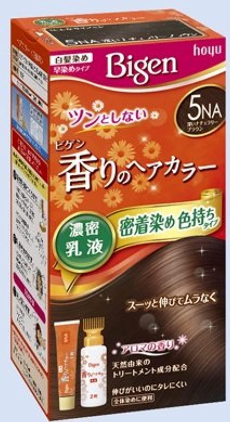 送金例外ガウンビゲン 香りのヘアカラー 乳液 5NA 深いナチュラリーブラウン × 27個セット