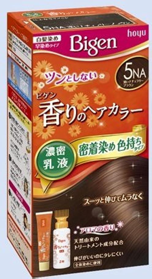 常習的油矢ビゲン 香りのヘアカラー 乳液 5NA 深いナチュラリーブラウン × 27個セット