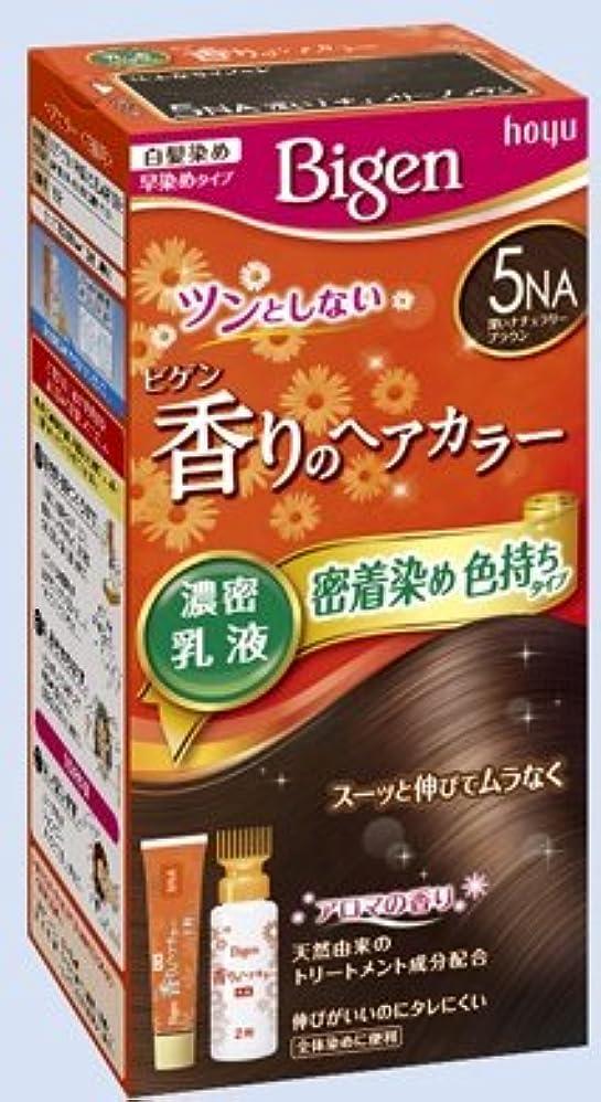 エンジン測定逸話ビゲン 香りのヘアカラー 乳液 5NA 深いナチュラリーブラウン × 27個セット