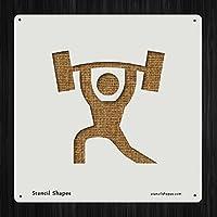 Weight Lifting練習Athletic、スタイル6245DIYプラスチックステンシルアクリルMylar再利用可能な