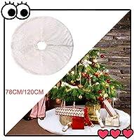 クリスマスツリースカート、クリスマスソフトスノーホワイトクリスマスの装飾クリスマスツリーホリデイスカート2020新年(ホワイト、78CM) lsmaa (Color : White)