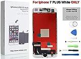Oli & Ode iPhone 7 Plus 5.5 インチ3Dタッチスクリーン修理交換用フロントパネル(フロントガラスデジタイザ)修理工具付属 (ホワイト)