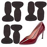 靴ずれ防止 かかとパッド 靴擦れ ジェルクッション インソール T型踵 踵保護 痛み軽減 滑り止め サイズ調整 貼るだけ簡単 パカパカ防止 パンプス 靴 サンダル 黒(3足セット6枚)