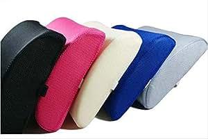 (ワイズマーケット)Y'smarket クッション 腰痛 用 ランバーサポート 低反発 (02 ピンク)