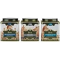 Harrods(ハロッズ)紅茶 リーフ 3缶セット (No.14 イングリッシュ・ブレックファスト、No.42 アールグレイ、No.16 アフタヌーン・セイロン) 各125g [海外直送品]