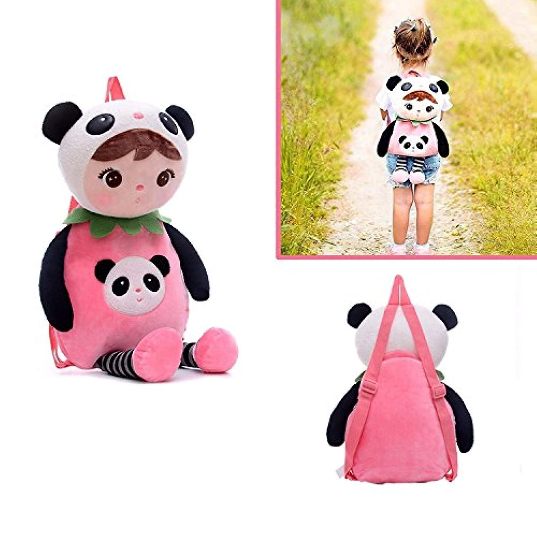 群れライブ店主かわいいパンダバックパックショルダーバッグ \ Cute Kawaii Panda Shoulder Bag Backpack for Girls Boys Toddler | Stuffed Animals Plush...