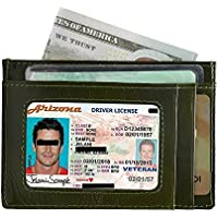 Wallet Men Women Credit Card Holder Vodabang Slim Minimalist Front Pocket RFID Blocking Genuine Leather Wallets with Gift Box