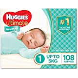 Huggies Ultimate Nappies, Newborn Size 1 - Size 6