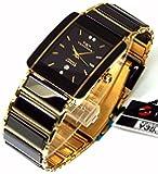 TECHNOS テクノス メンズ腕時計 クラシック セラミック ブラックダイヤル 工具ブレスセット TSM903GB-SET [並行輸入品]