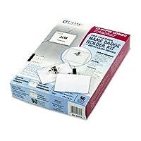 c-line :クリップ/ピンコンボバッジホルダーキット、トップロード、21/ 4x 31/ 2、ホワイト、50perボックス–: -の2パックとして販売–50–/–Total of 100各
