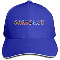 4923866f6ac80 Vintage Coldplay Logo Snapback Hat RoyalBlue Sandwich Peaked Cap