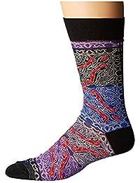 エトロ Etro メンズ 靴下 ソックス Blue/Purple Patch Paisley Socks [並行輸入品]