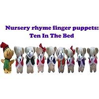 ychoice面白いFinger PuppetsおもちゃベッドでTen Ten Pieces Finger Puppets柔らかい布動物人形手おもちゃぬいぐるみおもちゃfor赤ちゃんキッド