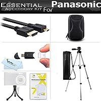 """スターターアクセサリーキットfor the Panasonic zs50、dmc-zs45K、dmc-zs40K、dmc-zs35K、dmc-zs30、dmc-ts6、dmc-zs60K、dmc-zs100Kデジタルカメラはケース+ 50""""三脚ケース+マイクロHDMIケーブル+ More"""