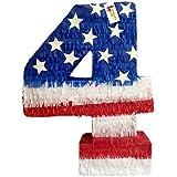 Patriotic数4つPinata 4th of July Pinata