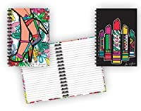 "Spiral Bound Glitterカバーハードカバーノートブックセット(2 Notepads合計) 8 1 / 2 "" x 5 5 / 8 "" – 80 Lined Pages Perブック – ひな形"