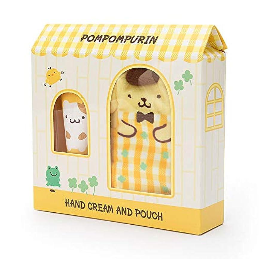 牛不変本質的にポムポムプリン プチポーチ付きハンドクリーム