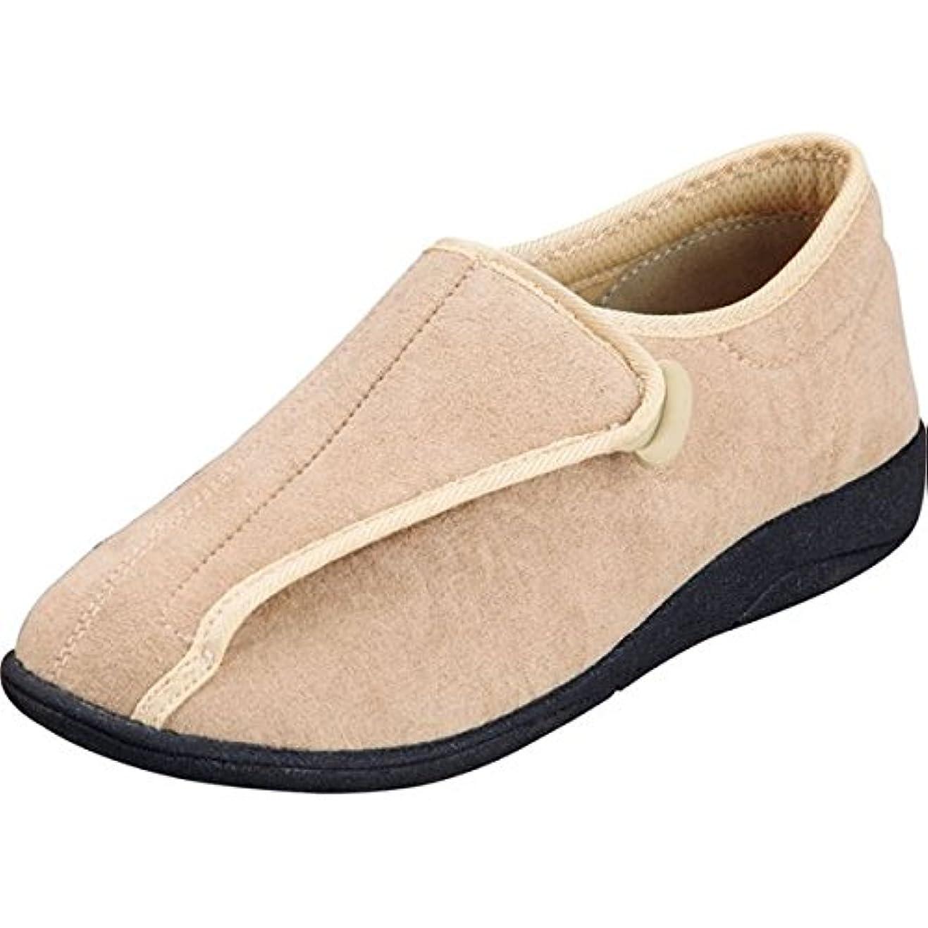 誇張遅滞ホイッスルマリアンヌ製靴 彩彩~ソフト~ケアシューズ 通常インソールタイプ W802 /22.0cm ベージュ ds-1431780