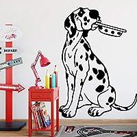 Ansyny 斑点を付けられた犬の壁のステッカー現代のファッションウォールステッカー家の装飾アクセサリー用リビングルームの背景壁アートデカール43 * 53 Cm