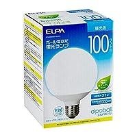 ELPA(エルパ) ボール電球形 蛍光ランプ 100W形 昼光色 EFG25ED/21-G101H 【人気 おすすめ 通販パーク】