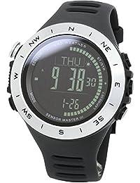 [ラドウェザー] スイス製センサー 100m防水 高度計/ 気圧計/ 温度計 アウトドア コンパス 移動距離 履歴グラフ 腕時計