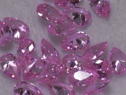 [해외]페어 컷 4 × 6mm 핑크 큐빅 루스 나석/Pair Cut 4 x 6 mm Pink Cubic Zirconia Ruth Nude Stone