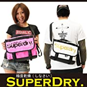Super Dry / 極度乾燥(しなさい) <br>ショルダーバッグ バックパック <br>英国発人気ブランド! 日本未発売の限定バッグ! ワンサイズピンク