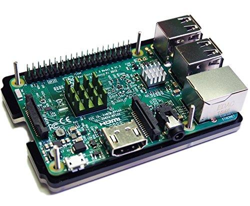 『waves Raspberry Pi 3 Model B 用 ケース ヒートシンク 3点付 Pi2 共用 国内発送 黒』の5枚目の画像