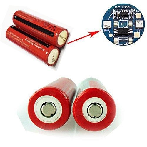 AC充電器 + 4本セット 3000mAh 18650 3.7V 充電式リチウムイオン電池 戦術懐中電灯 電池,充電池 保護回路付き Yafire