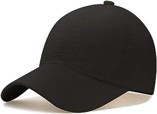 キャップ帽子,Hoomoi 春 夏 秋 メッシュキャップ 速乾 通気性抜群 男女兼用 メンズ レディース 登山 釣り おしゃれ 野球帽 調節可能 日焼け防止 運 動 紫外線対策 無地 2色選択可能