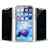 Romantic Angels iPhone X 覗き見防止液晶保護フィルム 炭素繊維 専用設計 極薄0.26mm 極高透過率 硬度9H / 飛散防止 / 気泡ゼロ フルカバー (白)