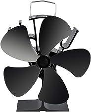 ストーブファン Aonbys 2019年最新版 エコストーブファン 火力ファン 5つブレード エコファン 火力熱炉ファン 静音 省エネ ストーブファンヒーター 薪ストーブ/暖炉用品 スチール製 ストーブ 熱供給用品 暖房用 防寒対策 温度計付き