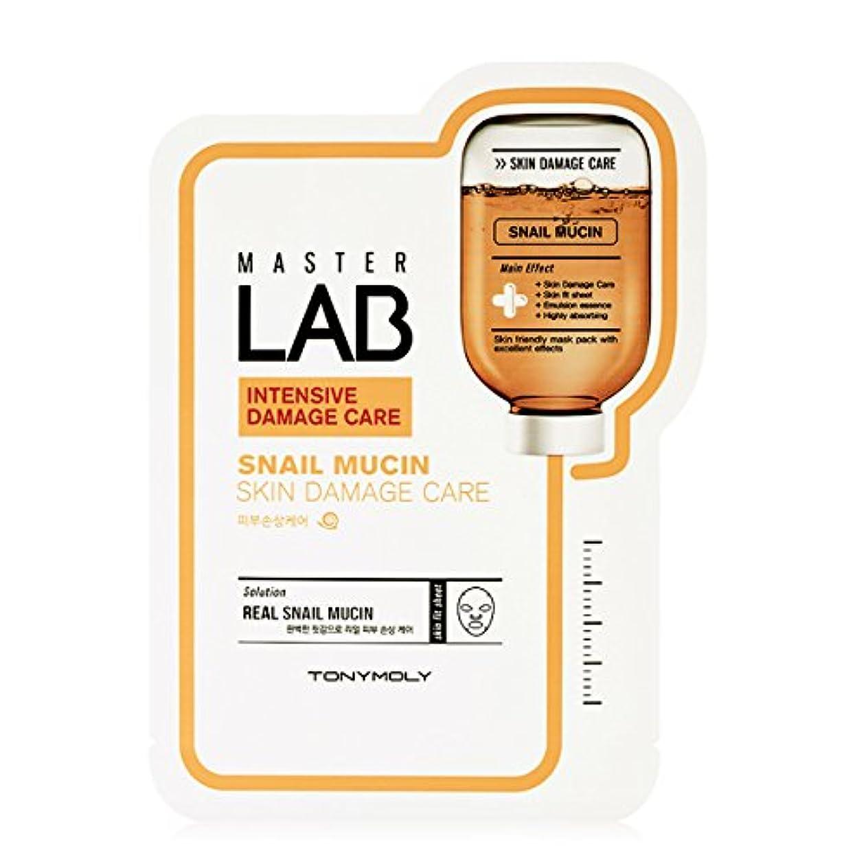 インタフェース知る簡単に[New] TONYMOLY Master LAB Mask Sheet 19g×5ea/トニーモリー マスター ラブ マスクシート 19g×5枚 (#Snail Mucin:Skin Damage Care)