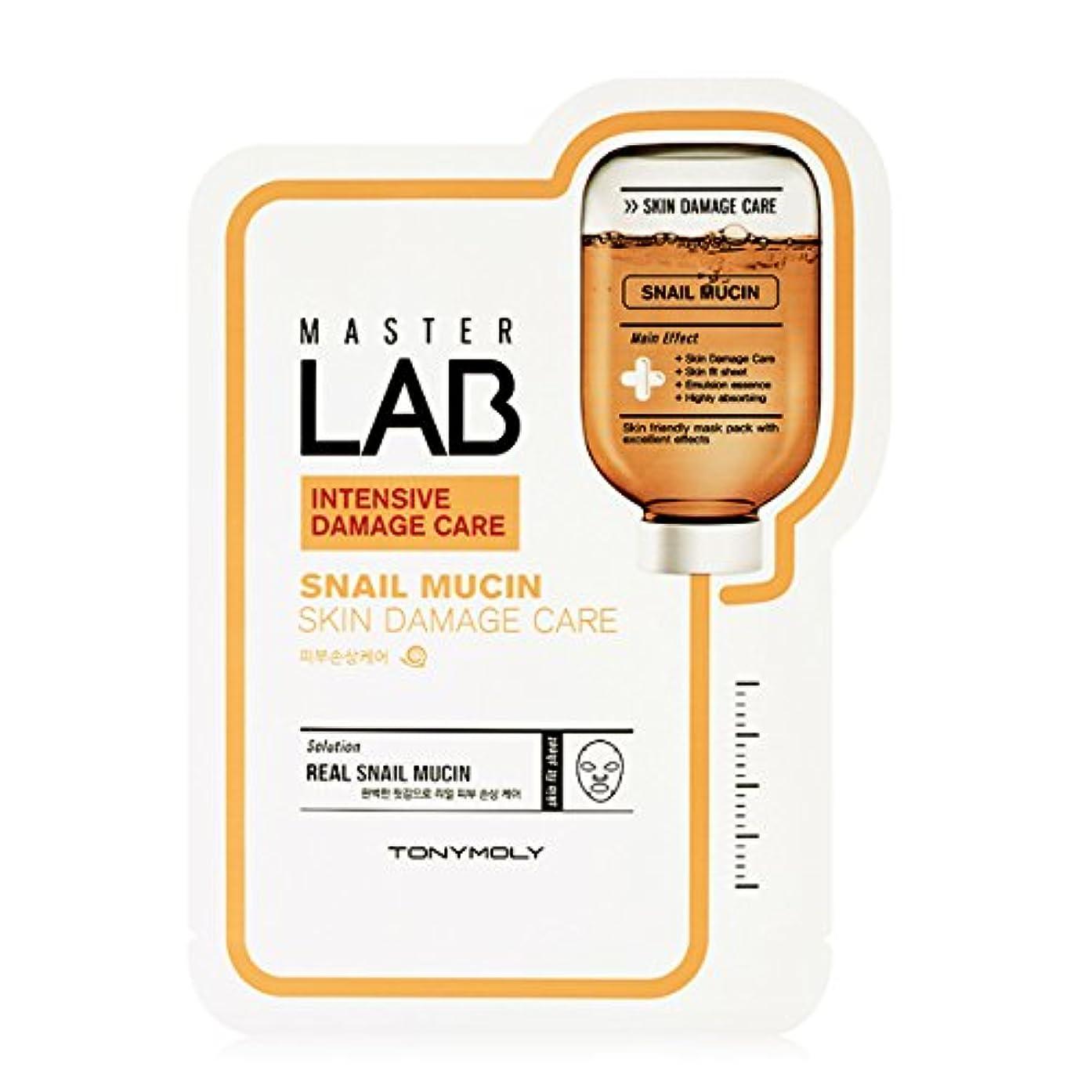 [New] TONYMOLY Master LAB Mask Sheet 19g×5ea/トニーモリー マスター ラブ マスクシート 19g×5枚 (#Snail Mucin:Skin Damage Care)