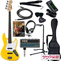 SELDER セルダー ベース ジャズベースタイプ JB-30/YW VOX amPlug2【アンプラグ2 AP-BS(BASS)】サクラ楽器オリジナルセット