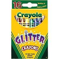 Bulk Buy : Crayola Glitterクレヨン16 / Pkg 52 – 37166パック