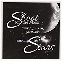 Doreen Erhardt Inspirational–Shoot For The Moon Is Great for the Graduateまたはプロモーションと機能A Quote By Lesブラウン–グリーティングカード Set of 12 Greeting Cards