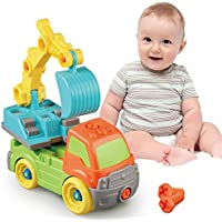 huaile慣性おもちゃEarlyエンジニアリング車両Friction Powered Kids Excavator Toy for Children Kids Boys HUAILE