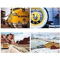 サンサンフー ポスター A3 キャニオン 風景 インテリア アート 4枚セット PGS12A30000