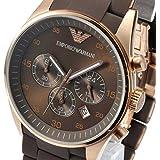 エンポリオアルマーニ Emporio Armani Men's AR5890 Brown Sport Chronograph Watch 男性 メンズ 腕時計 【並行輸入品】